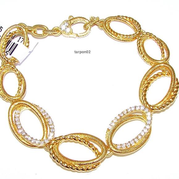 fdd4c0f5530aa Judith Ripka 14K Clad Diamonique 3/4ct. Bracelet NWT
